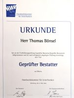Urkunde Thomas Bönsel